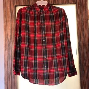 Madewell Tartan Button-down Blouse